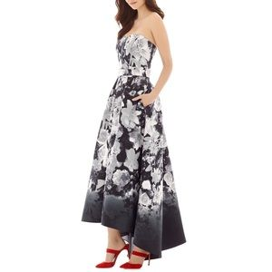 ALFRED SUNG FLORAL STRAPLESS GOWN ♥️IN STORES♥️
